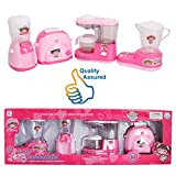 #5: HALO NATION® Household Appliances Toy Set -4 in 1 Kitchen & Home Utility Real Working Appliances toys With Light & Sound for Girls