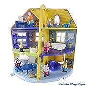 Questa enorme casa Peppa Pig è ricca di accessori per mobili e include anche una figura artigianale di Peppa Pig. Ci sono un sacco di camere per Peppa a giocare in: cucina, soggiorno, camera da letto, bagno, ufficio e soffitta. Con lo stile c...