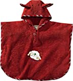 Morgenstern, Bio Frottee - Badeponcho, 1-3 Jahre (one size), Farbe rot, Sleepy Sheepy, 100 % organische Baumwolle,