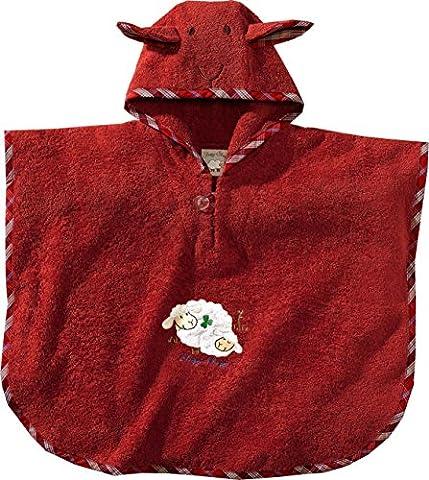 Morgenstern, Bio Frottee - Badeponcho, 1-3 Jahre (one size), Farbe rot, Sleepy Sheepy, 100 % organische Baumwolle,