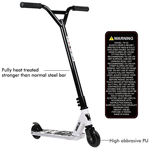 Vokul TG-6061 Pro XX Style Lightweight, Super-Tough Aluminum Stunt Kick Scooter With High Grade Urethane Wheel