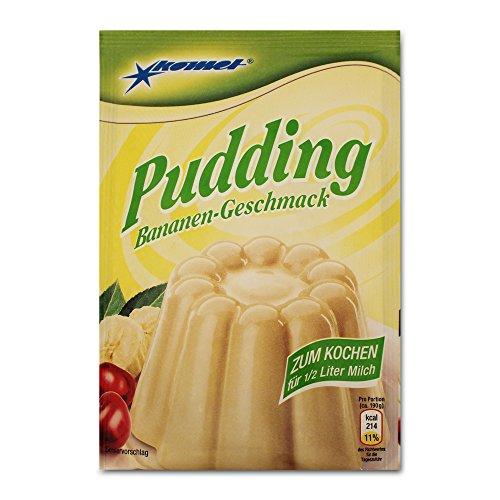 5er Pack Komet Pudding Bananen-Geschmack (5 x 40 g) zum Kochen Puddingpulver Dessert Puddingdessert