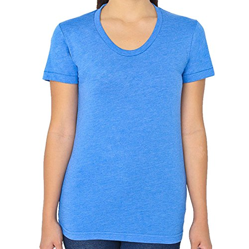 American Apparel - T-shirt - Femme Heather Lake Blue