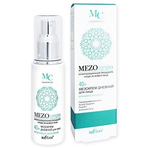 Belita-Vitex MEZOcomplex Anti-Aging Tagescreme 40+, 50ml, mit Hyaluronsäure, AmbreOceane®- und Polylift®-Komplex, Aminosäuren (Taurin, Glycin, Arginin)