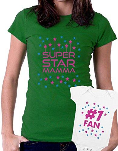 t-shirt e body festa della mamma - Super star Mamma, fan -tutte le taglie uomo donna maglietta by tshirteria verde
