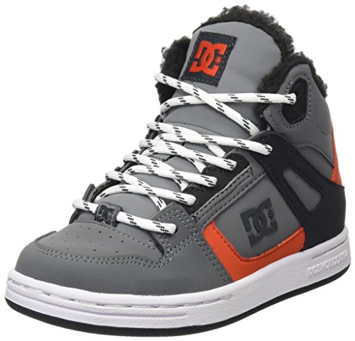 DC Shoes Rebound WNT, Baskets Basses Garçon, Gris