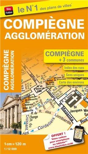 Plan de Ville de Compiègne - Echelle : 1/12 000