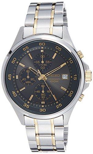 Seiko Herren-Armbanduhr Chronograph Quarz Grau SKS481P1