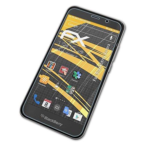 atFolix Panzerfolie kompatibel mit BlackBerry Aurora Schutzfolie, entspiegelnde & stoßdämpfende FX Folie (3X)