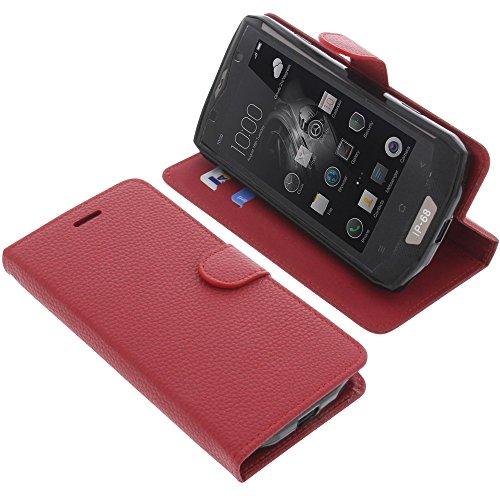 foto-kontor Tasche für Blackview BV8000 Pro Book Style rot Schutz Hülle Buch
