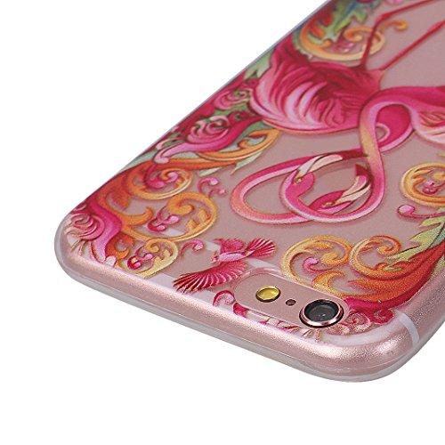 iPhone 6S Plus Cover Natale, iPhone 6S Plus Custodia, Moon mood® Morbido Christams Cover Trasparente e Modello Cassa Crystal Clear Chiaro Custodia Silicone Soft Case Gel Gomma TPU Bumper Shell Skin Fl 2pz-2