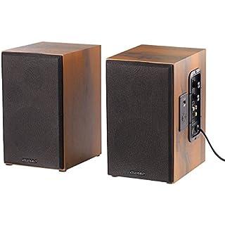 auvisio Aktivboxen: Aktives Stereo-Regallautsprecher-Set im Holz-Gehäuse mit Bluetooth (HiFi Lautsprecher)