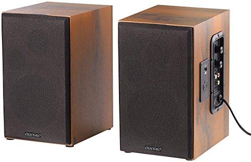 auvisio Aktivboxen: Aktives Stereo-Regallautsprecher-Set im Holz-Gehäuse mit Bluetooth (Lautsprecher Bluetooth)