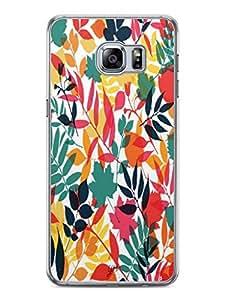 YuBingo Colourful Leaves Designer Mobile Case Back Cover for Samsung Galaxy S6 Edge