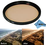 Grace Photo 43mm Warming Multi Coated Glass Filter for Canon Vixia Hf M52 + Grace Photo Microfiber Cleaning Cloth