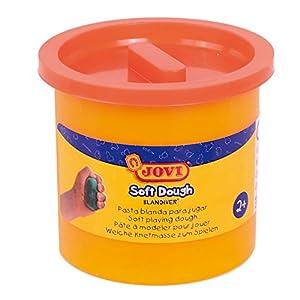 Jovi - Soft Dough Blandiver, Estuche de 5 Botes, 110 g, Color Naranja (45007)