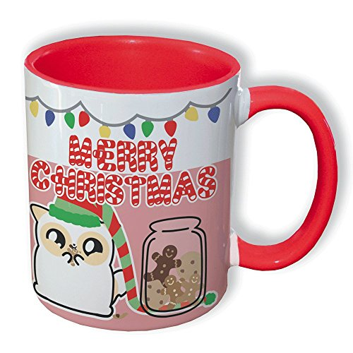 Mug Pouny Pouny Merry christmas ( édition limitée Noël 2016 ) Cookies et biscuits, Guirlande lumineuse, chibi et kawaii - Fabriqué en France - Licence officielle Pouny Pouny - Chamalow shop