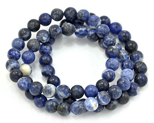 Paialco set di 3sodalite bead braccialetto elastico, materiale non metallico, cod. u8jb10229bl06917