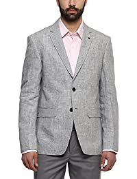 Louis Philippe Mens Notched Lapel Printed Blazer