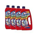 4x rorax Rohrfrei Power-Gel 1 Liter - Löst selbst Haare auf
