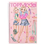 Depesche 10576 - Libro da colorare con Adesivi, TOPModel Dress Me up, Multicolore