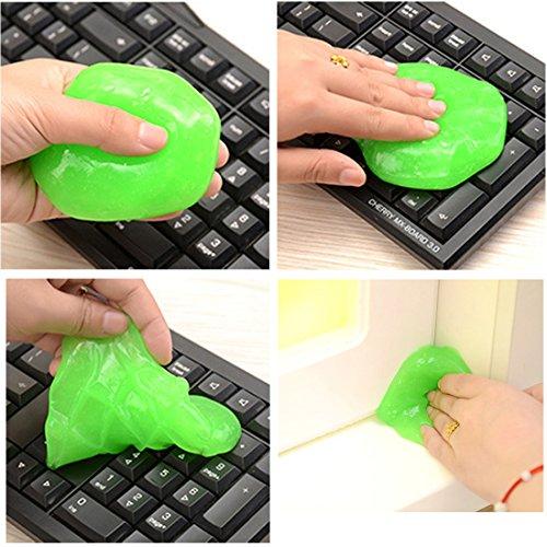 dooppa wiederverwendbar Staub Schmutz Reiniger für Tastaturen, Mobiltelefone, Computer (zufällige Farbe)
