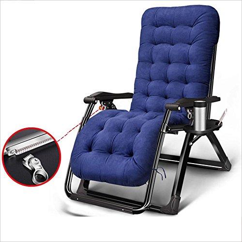 Chaises pliantes Xiaolin Balcon Recliner Siesta Chaise Plage Chaise Loisirs Chaude Chaise Paresseuse (Couleur : Bleu)
