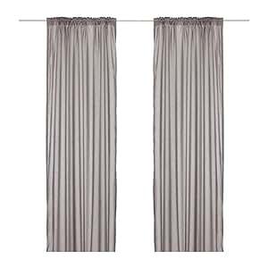ikea vivan curtains 1 pair grey 145x300 cm. Black Bedroom Furniture Sets. Home Design Ideas