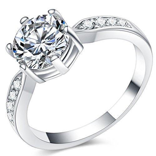 Anello con solitario acciaio inox per anniversario matrimonio fidanzamento San Valentino
