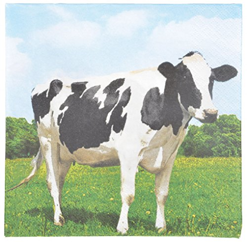Esschert Design tp182 Vache Serviettes en Papier - Blanc