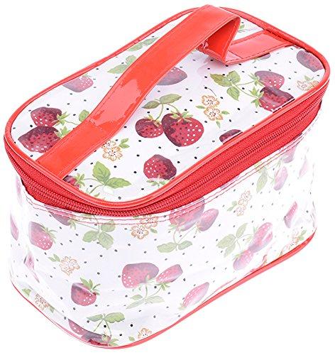 Cute STRAWBERRY Polka DOTS BIG Cosmetic Bag / KOSMETIKTASCHE Rockabilly