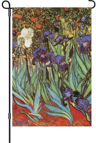 Premier 51964Garten beleuchtet Flagge, Van Gogh Schwertlilien, 12von 18