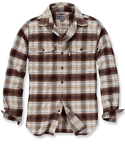 Carhartt Shirt Longsleeve Fit Flannel Trumbull Braun