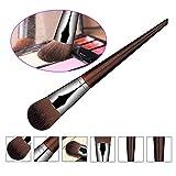 hrph del fronte di trucco Make Up pennello maschera di pittura pennello Foundation rotonda piatto a mano Pennello per viso cosmetici