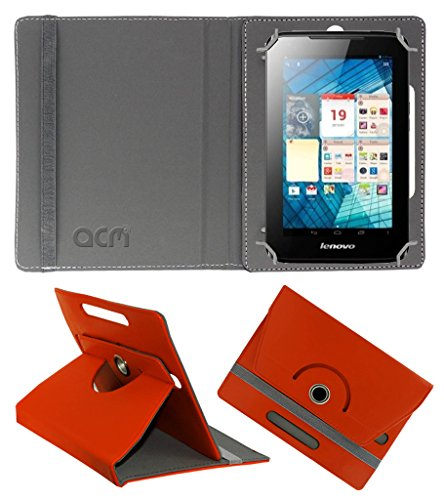 Acm Rotating 360° Leather Flip Case for Lenovo A1000l Cover Stand Orange  available at amazon for Rs.149