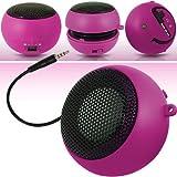 N4U Accessoires - Mini Haut-Parleur de Poche Portatif - Câble USB de Chargement et port Jack incorporé – 3.5mm - Super Sound - Rose Indien - Pour Alcatel Ot-991