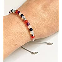 KARMA GEMS Depression Anxiety & Stress Healing Balance Bracelet - Adjustable