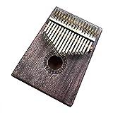 TianranRT Kalimba 17 tasti portatile pollici Pianoforte Mbira Sanza Mahagoni corpo Erce metallo zinco, Multicolore