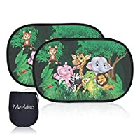 2PCS Car Window Shade for Baby, Car Shade for Side Window with Double Layer Mesh, Protect Kids, Newborn, Infant from Sun Burn, UV Ray, Heat (Animals)