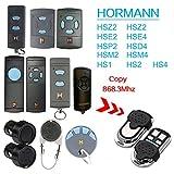 868 Mhz Hormann Hsm2 | Hsm4 | Hs1 | Hs2 | Hs4 | Hse2 | Hsz1 | Hsz2 | Hsp4 | Hsp4 868-c | Hsd2-A | Hsd2-c 4 Kanal Garagentor Fernbedienung - Universal Sender Ersat