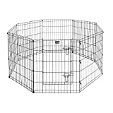 Pet Trex Exercise Playpen for Dogs with High Panel and Gate, 24 x