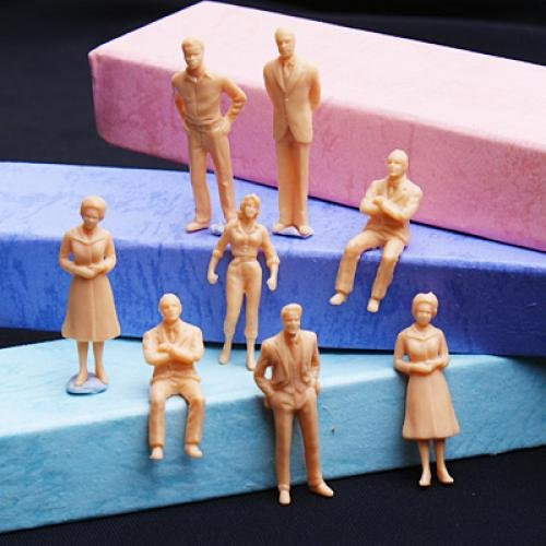 100pcs-unpainted-model-train-people-figures-scale-o-1-to-50