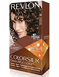 Revlon Coloration permanente Colorsilk Beautiful Color - Couleur radieuse longue tenue - Couleur 30/3N Châtain...