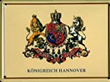Retro Wandschild Designer Schild Hannover Wappen Deko 8x11cm Nostalgie Metal Sign A449