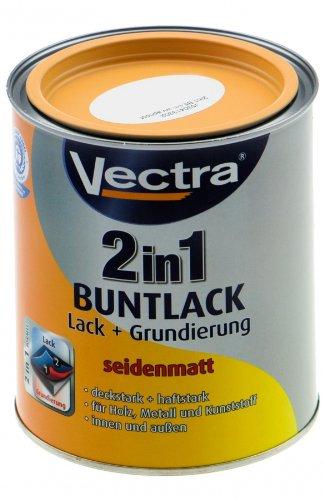 Vectra 3468 2in1 Buntlack Lack + Grundierung Apricot Seidenmatt 750ml (WC14) -