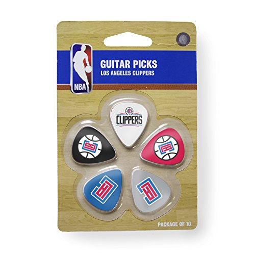 nba-los-angeles-clippers-guitar-pick-10-pack-1-inch-x-1-3-16-inch-blue