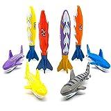 Akokie Tauchen Spielzeuge Kinder Torpedos Spielzeug 8 Stück zum Baden Unterwasser Schwimmen Strand...