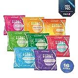 WALTZ7 aromatische Duschbomben Set 16 Stück mit 8 Düften Best of Duschtabs Aromatherapie Wellness Geschenk Set für Damen und Herren Duschbad Ätherische Öle