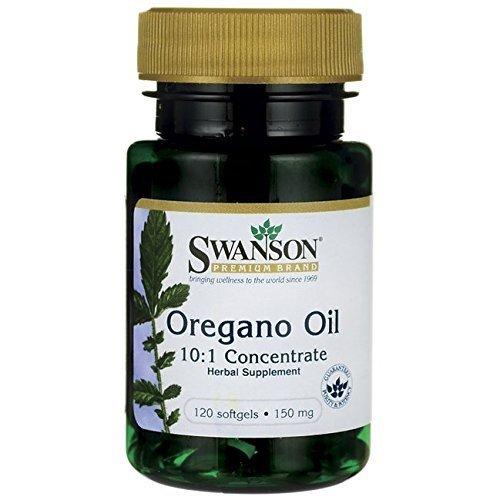 Swanson - Huile d'Origan (EXTRAIT 10:1) 150mg, 120 gélules - Équivalent 1500mg d'Origan Frais Concentré - Complément Alimentaire Bio-Actif (Oregano Oil capsules - Origanum Vulgare supplement)