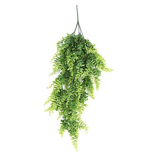 Künstliche Pflanzen, Reben zum Aufhängen, Efeu, Kunststoff, persische Rattan, Grünpflanze für drinnen und draußen, Hochzeit, Haus, Garten, Hängekorb, Dekoration, 2 Pcs - Dekor Persische